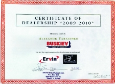 2009_certificate_dealership_ervin_usa