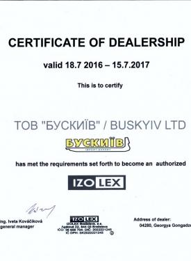 20160718_izolex_dealersertificat